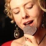 Amanda eating chocolate