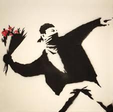 Banksy love bomb