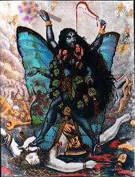 Kali with wings and a wand