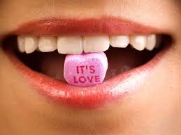 Love message from the mouth