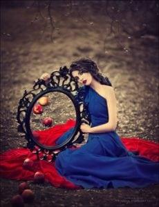 Blue Priestess w/Mirror by Kareva Margerita