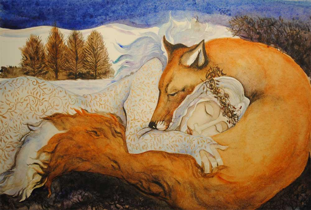 goddess and fox