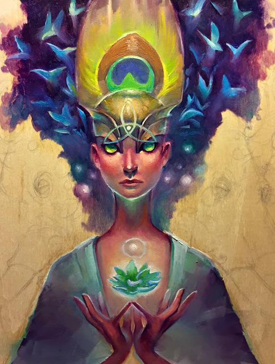 CROPPED Rough Draft Alchemical Goddess by Adrianne