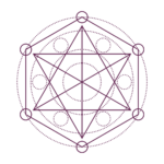stylized merkaba purple small