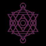 yantra like merkaba purple small