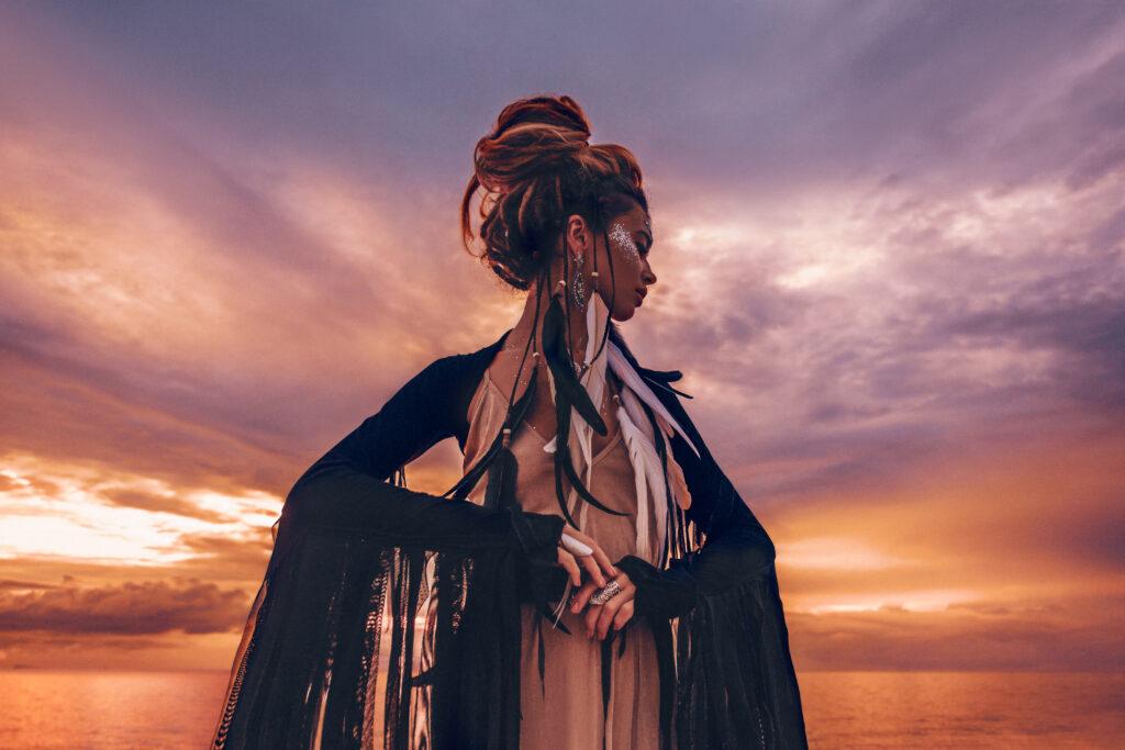 Sacred Rebel Priestess sunrise