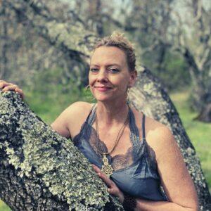 Amanda Close Up Tree