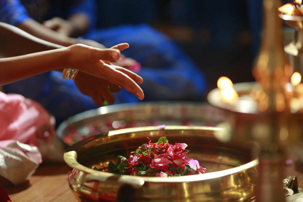 Pooja,Of,Goddess,Saraswati,During,Mahanavami,And,Vijayadashmi,Celebration
